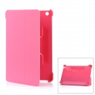 KALAIDENG Ultra-Thin Protective PC Back Case w/ Folding PU Leather Cover for Ipad MINI - Pink
