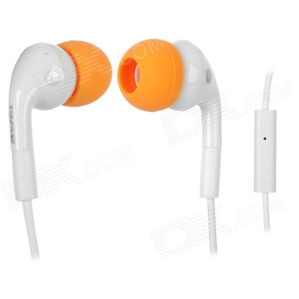 AWEi Q9i Stylish In-Ear Earphone w/ Microphone for Iphone 3g / 3GS / 4 / 4S / Ipad - White + Orange awei q7i stylish in ear earphone with microphone for iphone ipad more orange green