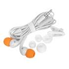 Awei Q9i elegante In-Ear Earphone w / microfone para iPhone 3G / 3GS / 4 / 4S / Ipad - Branco + Laranja