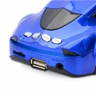 Car Model Style 2-Channel Media Player Speaker w/ TF / FM - Blue