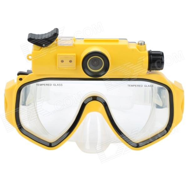 Codisk WP720 0.7'' LCD HD 5.0 MP Wide Angle Diving Sports Camcorder w/ USB / Mask - Yellow