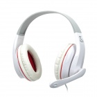 Sobu Pi-60 Stereo Headphones w/ Microphone - White + Red