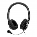 COSONIC CT-685 Bass Stereo Headphones w/ Mic + Volume Control - Black (3.5mm Plug / 2m -Cable)