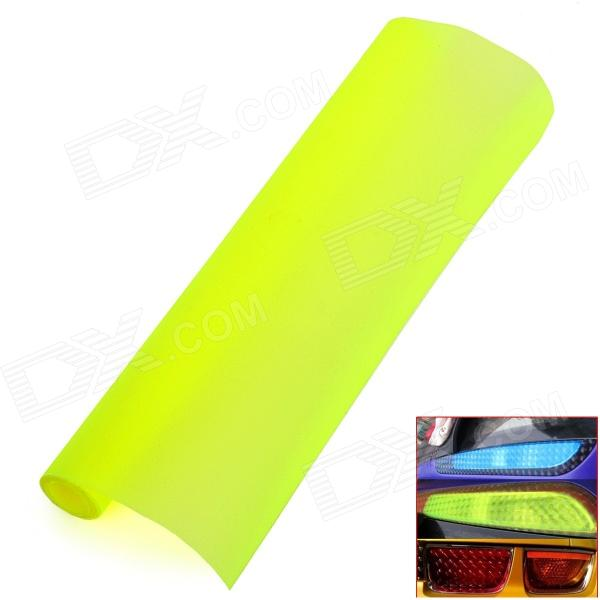 DIY Frosted Flash -point Car Headlamp Light Sticker - Fluorescence Yellow (1 x 100cm)