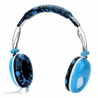 DJ-3685 Stylish Headphones w/ Microphone - Blue + Black (3.5mm Plug / 139cm)