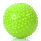 80mm Plastic Fun Pet Dog Ball Toy - Green