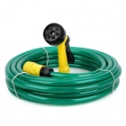 JH-1007 Multi-functional Nozzle Spray Head Water Gun Sprinkler w/ Hose - Green + Yellow (10m-Hose)