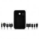 5000mAh Dual USB Output Portable External Emergency Power Charger for Cellphone/ iPad + More - Black