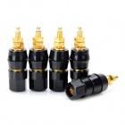 DIY Power Amplifier Speaker Terminals Binding Posts - Black + Golden (5 PCS)