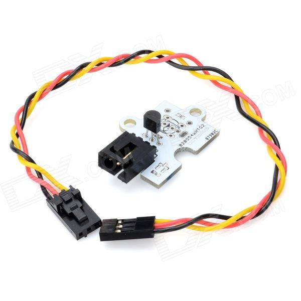 Octopus Electronic Bricks DS18B20 Digital Temperature Sensor Module - White 1pcs serial ata sata 4 pin ide to 2 of 15 hdd power adapter cable hot worldwide