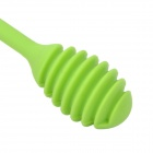 WL009 Smile Face Pattern Super Soft Silicone Spoon - Green