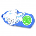Twelve Zodiac Rabbit Style USB 2.0 Flash Disk Device - Blue + White (4GB)