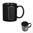 Color Changing Battery Pattern Ceramics Mug - Black