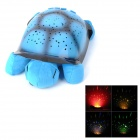 712 Turtle Style 4-LED Multi-Color Dämmerung Night Light Star Projektor w / USB-Kabel - Blue (3 x AA)