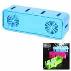 Electric Power Wire Cable Winder Socket Storage Organizer Box - Blue