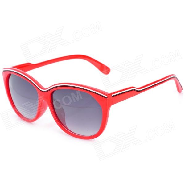 OREKA 86408 Lady's Fashion UV Protection Sunglasses - Red + Grey