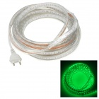 72W 4000lm 300-SMD 5050 LED Green Light Flexible Decorative Strip (220V / 5m / 2-Round-Pin Stecker)