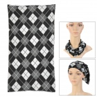 Multifunction Outdoor Sports Seamless Head Scarf - Grey + White + Black