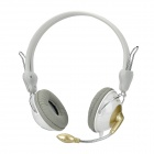 Feinier FE9109 Stereo Headphones w/ Microphone + Volume Control - Grey (3.5mm Plug / 200cm-Cable)