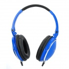 Feinier FE-182 Stereo Headphones w/ Microphone + Volume Control - Blue (3.5mm Plug / 180cm-Cable)