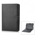 Protective 83-Key USB Wired Keyboard PU Leather Case w/ Stand / Stylus for 10.1&#039;&#039; Tablet - Black