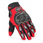 PRO-BIKER MCS-03 Motorcycle Racing Full-Finger Warm Gloves - Red + Black + Grey(Size M / Pair)