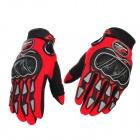 PRO-BIKER MCS-03 Motorcycle Racing Full-Finger Warm Gloves - Red + Black + Grey(Size L / Pair)
