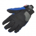 PRO-BIKER MCS-03 Motorcycle Racing Full-Finger Warmer Gloves - Blue + Black + Grey(Size XL / Pair)