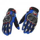 PRO-BIKER MCS-03 Motorcycle Racing Full-Finger Warm Gloves - Blue + Black + Grey(Size M / Pair)