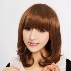 Finding Color FCWG036 Tilted Frisette Short Curly Synthetic Hair Wig - Golden