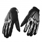 Scoyco A008-L Motorcycle Racing Full-Finger Warm Protective Gloves - Black + Silver Grey (Size L)