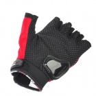 PRO-BIKER MCS-04 Motorcycle Racing Half-Finger Protective Gloves - Red + Black (Size M / Pair)