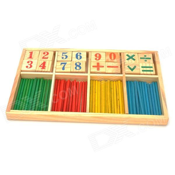 Digital Computation Wooden Stick & Block Education Toy