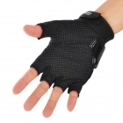 PRO-BIKER MCS-04 Motorcycle Racing Half-Finger Protective Gloves - Black (Size M / Pair)