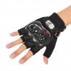 PRO-BIKER MCS-04 Motorcycle Racing Half-Finger Protective Gloves - Black (Size L / Pair)