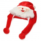 Soft Warm Plush Cartoon Santa Claus Hat Cap for Christmas - Red + White