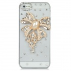 Bow Style Fashionable Back Case w/ Rhinestone for Iphone 5 - Transparent