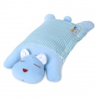 Leyi 0033 Cute Cartoon Pattern Baby-Vermeiden Flache Position Pillow - Blue