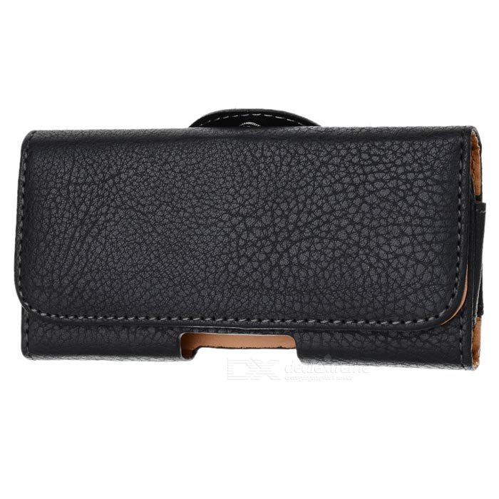 Protective PU Leather Waistband Case for Iphone 5 - Black viruses cell transformation and cancer 5