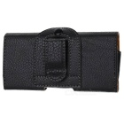 Protective PU Leather Waistband Case for Iphone 5 - Black