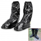 Toe-Zone Motorcycle Bicycle Cycling Waterproof Rain Boot Shoe Covers - Black (XL / Pair)