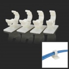 Wire Cord Cable Saddle / Clip Organizer - White (4 PCS)