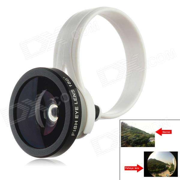 Universal Clip-On Fish-Eye Lens for Iphone 5 / 4 / 4S + More - White + Black + Silver
