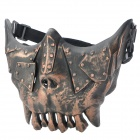 QiuZhang SW2108 Outdoor War Game Military Protective Skeleton Half Face Shield Mask - Black + Bronze