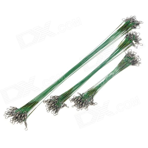 Fishing Steel Wire Connector Tackle - Green (60 PCS)