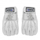 WOLONG MMA Fighting / Boxing PU Leather Gloves - White (Pair)