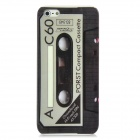 Retro Cassette Tape Style Plastic Back Case w/ Screen Protector for Iphone 5- Grey + Black
