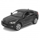MeiZhi 25019A 1:24 Scale 2-CH 27MHz Remote Controlled R/C Car Model Toy - Black (4 x AAA)