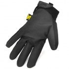 Free Soldier Outdoor Cycling Fiber + Nylon Full Finger Gloves - Black (Pair)
