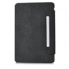 Protective Flip-Open PU Leather Case w/ Back Holder for Ipad MINI - Black